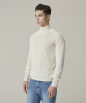가먼트레이블(GARMENT LABLE) Basic Turtleneck Knit - Ivory