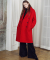 에번라포레(EVANLAFORET) [UNISEX] OVERSIZED DOUBLE LONG COAT(RED)