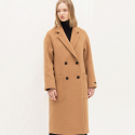 룩캐스트(LOOKAST) PREMIUM BEIGE LONG DOUBLE COAT