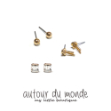 오뜨르 뒤 몽드(AUTOUR DU MONDE) GOLD SIMPLE EARRING SET