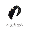 오뜨르 뒤 몽드(AUTOUR DU MONDE) FLOWER SCARF HAIRBAND (NAVY)