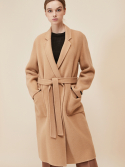 룩캐스트(LOOKAST) BEIGE NOTCHED LAPEL HANDMADE COAT