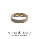 오뜨르 뒤 몽드(AUTOUR DU MONDE) BASIC LEATHER BRACELET(ETOFFE)