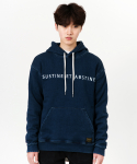 언터치드(untouched) JOGG DENIM HOODY INDIGO (SEMI OVER)