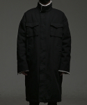 HIEDEN MILITARY LONG JACKET - BLACK