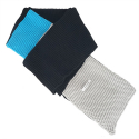 와드로브(WARDROBE) COLORBLOCK MUFFLER_BLACK