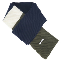 와드로브(WARDROBE) COLORBLOCK MUFFLER_NAVY