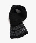 피스메이커(PIECE MAKER) STITCH WOOL MUFFLER (BLACK)