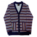 에잇볼륨() EV Stripe Knit Cardigan (Navy)
