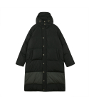 오디너리피플() [Unisex] ORDINARY COLOR BLOCK BLACKHAKI LONG PADDING