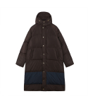 오디너리피플() [Unisex] ORDINARY COLOR BLOCK BROWNAVY LONG PADDING