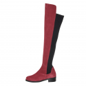 Basic Stretch Over-The Knee Boots_Suede_Wine
