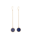 비올리나(VIOLLINA) LAPIS ROUNG BACK DROP EARRING