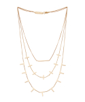 비올리나(VIOLLINA) VOWEL LINES TRIPLE LAYERED NECKLACE
