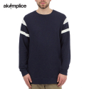 아콤플리스(AKOMPLICE) THE NAVY EPPLE SPORT CREW - NAVY EPP