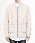 쟈니웨스트() Fleece Zip Cardigan (Ivory)