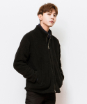 시에스타(SIESTA) SIESTA CURLED ZIP-UP [BLACK]