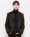 시에스타(SIESTA) SIESTA GLEN CHECK JACKET [CHARCOAL]