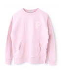 페이퍼먼츠(PAPERMENTS) P. Over Slit Sweatshirt_Pink