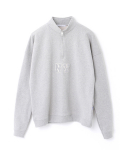 페이퍼먼츠(PAPERMENTS) Over Size Polo Neck Sweatshirt_Gray
