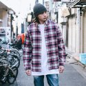 [CELECON STREET] Oversized Check Shirt VG1SH101
