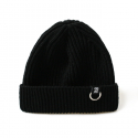 비블랙(BEBLACK) BVQ RING SHORT BEANIE BLACK