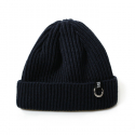 비블랙(BEBLACK) BVQ RING SHORT BEANIE NAVY