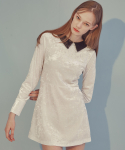 에드센스(ADDSENSE) VELVET A DRESS_WHITE