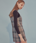에드센스(ADDSENSE) GOLD CHECK LOVELY DRESS_GRAY