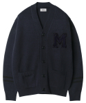 모디파이드() M#1212 modified M logo cardigan (navy)