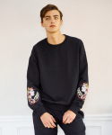 프레리() [사은품증정][UNISEX] GIPSY-GIRL EMBROIDERY SWEAT-SHIRT(Black)