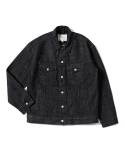 제로() Denim Jacket Snap closure (Black Dyed)