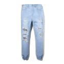 이스트쿤스트(IST KUNST) LIGHT DESTROYED JOGGER JEANS (IK1HSMD112A)