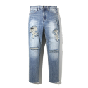 이스트쿤스트(IST KUNST) RAY WIDE DESTROYED JEANS (IK1HSMD171A)