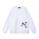 [customellow] [blue label] crack embroidery sweatshirts_CQTAM17273WHX