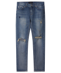 M#1224 crush destroyed crop jeans