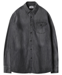 모디파이드() M#1218 one pocket washed shirt (black)