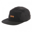 쓰레셔(THRASHER) Flame Logo 5-Panel Hat - Black