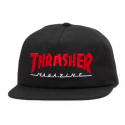 쓰레셔(THRASHER) Magazine Logo Two-Tone Hat - Black/Red