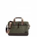 WAXED COTTON BRIEFCASE l OLIVE GREEN