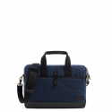 WAXED COTTON BRIEFCASE l NAYV BLUE