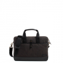 WAXED COTTON BRIEFCASE l CHARCOAL