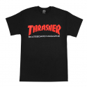 쓰레셔(THRASHER) Two-Tone Skate Mag Tee - Black