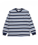 그라스하퍼(GRASSHOPPER) MULTI STRIPE T-SHIRT_NAVY