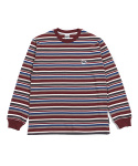 그라스하퍼(GRASSHOPPER) MULTI STRIPE T-SHIRT_WINE