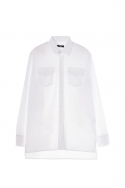 휴팟(HUPOT) SS17 LONG SLEEVE BIG SHIRT WHITE