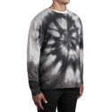 허프(HUF) HUF TRIPLE TRIANGLE SPIRAL WASH CREW (GREY)