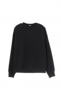 휴팟(HUPOT) SS17 BIG SHOULDER SWEATER BLACK
