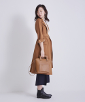 어헤이트(AHEIT) FLARED TROPICAL WOOL COAT CAMEL