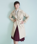 어헤이트(AHEIT) MACKINTOSH BI-COLOR COAT BEIGE-YELLOW